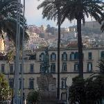 The Quartieri Spagnoli up the hill, Naples Italy