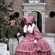 Medieval dresses in the snow