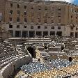 The old Roman Amphitheatre in Lecce