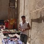 Lecce Italy Street vendor selling hand made item