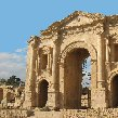 The ancient Arch of Hadrian in Jerash, Jerash Jordan