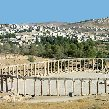 The old and new city of Jerash, Jerash Jordan