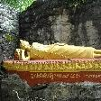 Reclining Golden Buddha in Laos