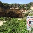 Cliff falling danger.., Great Ocean Road Australia