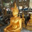 Savannakhet Province Laos Gold painted Buddha statue