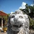 Lion statue in Savannakhet