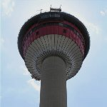 The 190 meter Calgary Tower