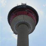 The 190 meter Calgary Tower