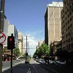 Tram stop in Adelaide