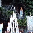 The grotto of the Lady of Lourdes