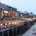 Restaurants in Kyoto on the Kamo River