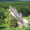 Yucatan Mexico Beautiful temple remains in the forest