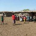 Kenyan Masai village, Masai Mara Kenya