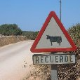 Road signs on Minorca