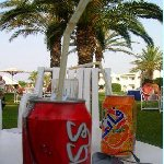A drink on the beach, Djerba Tunisia