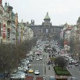 Busy Street Wenceslas Square, Prague