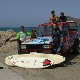 Surfing in Creta, Greece