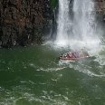 Wild water rafting at the Iguazu Waterfalls
