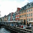 Photos of the Nyhavn waterfront in Denmark