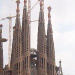 Barcelona Spain La Sagrada Familia in Barcelona.