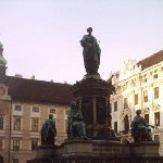 Vienna Austria Statue of Emperor Francis II in the courtyard of Hofburg