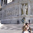 In front of Piazza Venezia in Rome.