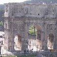 The Arch of Contantine in Rome.
