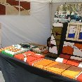 Local artists selling their art work in Barcelona., Barcelona Spain