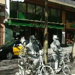 Barcelona Spain Street artisits in Barcelona, Las Ramblas.