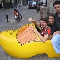 Amsterdam Netherlands Inside a real life Dutch wooden shoe!