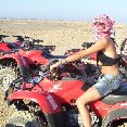 Quad Tour in the desert of Marsa Alam.