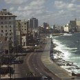 View of Malecon de la Habana, in Cuba.