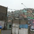Photo of the Peruvian favelas in Lima.