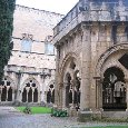 The rectangle shaped courtyard of the Poblet Monasteru., Poblet Monastery Spain