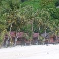 Beach bungalows in Ko Phangan, Thaland.