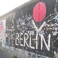 Grafitti images of the Berlin Wall., Berlin Germany