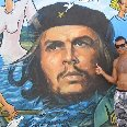 Graffitti of Ernesto Che Guevara, the legend of Cuba.