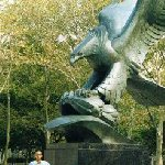 New York United States East Coast Memorial, Eagle Statue in Battery Park, Lower Manhattan.