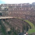 Photo of the inside stadium of the Colosseum.