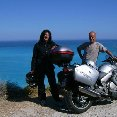 Kefalonia Greece The two bikers in Greece.