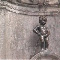 Brussels Belgium Manneke Pis Fountain in Brussels.
