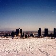 Skyline of Montreal in the snow., Montreal Canada