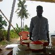Our private chef on board of the houseboat, Kerala, India.