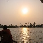 Sunset photos of the river, Kerala.