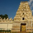 The golden door entrance of the Sri Bhuvaneswari temple in Mysore.