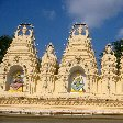 Ornaments and Hindu statues of the Sri Bhuvaneswari temple in Mysore.