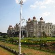 Golden chapels of the Mysore Palace., Mysore India