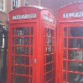 The english phone booths in Notthingham.