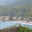 Panoramic photo of the bay in Tayrona Park, Colombia.