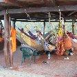 Hammocks for rent at Camping Paraiso, Parque Tayrona.